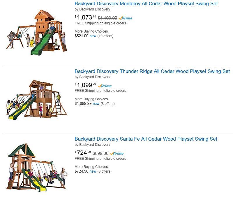 Backyard discovery Swing Set Amazon Dallas