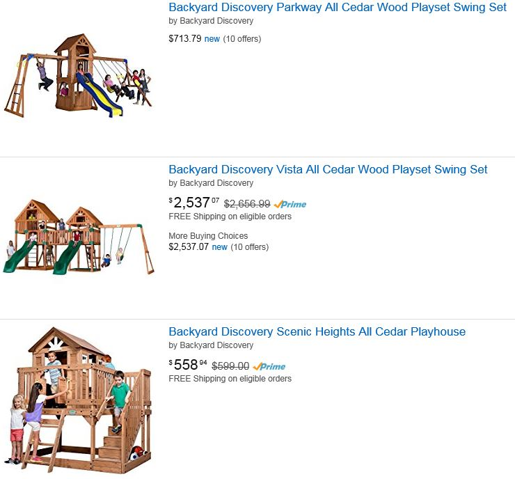 Backyard discovery swing set Amazon Pennsylvania