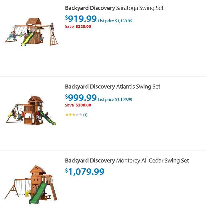 Backyard discovery swing set Walmart Ohio