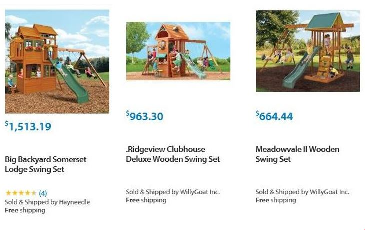 Big backyard swing sets Walmart Illinois