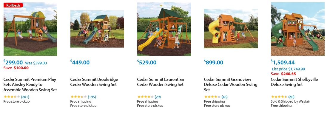 Cedar Summit Swing Sets Walmart Los Angeles Swing Set Specialist