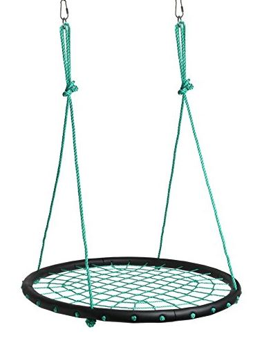 Childrens Web Swing Playground Platform net Swing Nylon Rope 40 inch Green