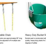 Eastern Jungle gym high back full bucket infant swing features 2