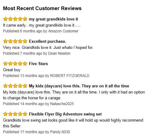 Flexible Flyer Triple fun Swing Set reviews