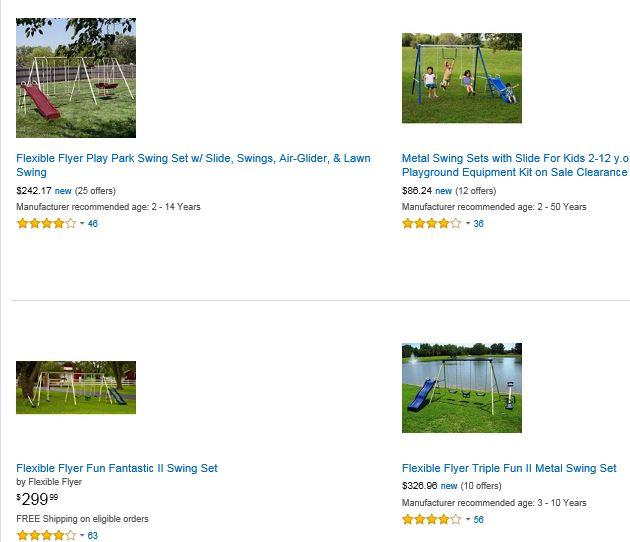 Flexible Flyer Swing Set Amazon Ohio Swing Set Specialist