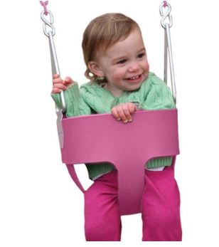 Gorilla Playsets Full Bucket Toddler Swing Pink Walmart 2