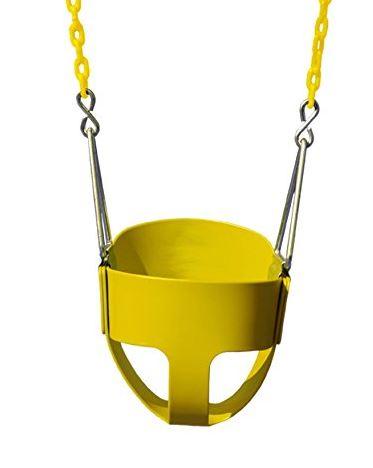 Gorilla Playsets Full Bucket Toddler Swing yellow