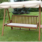 Quality Hardwood 3 Seater Garden Hammock Swing Seat 1