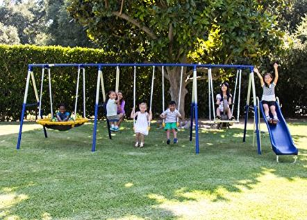 Sportspower Super 8 Fun Metal Swing Set 2 Swing Set Specialist