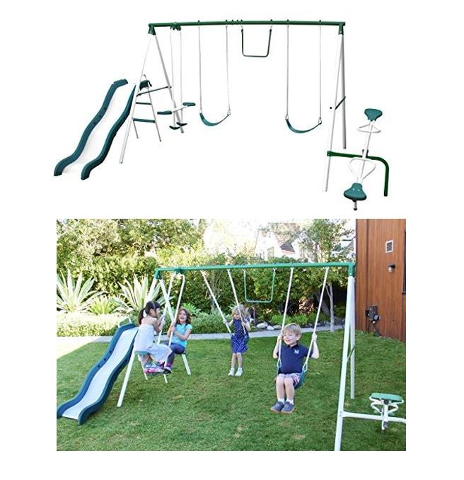 Sportspower Super 8 fun Metal Swing Set featured image