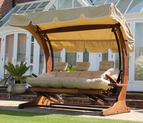 Summer Dream Swing Seat - 4 Seater with Foot Rests 2 Garden furniture centre