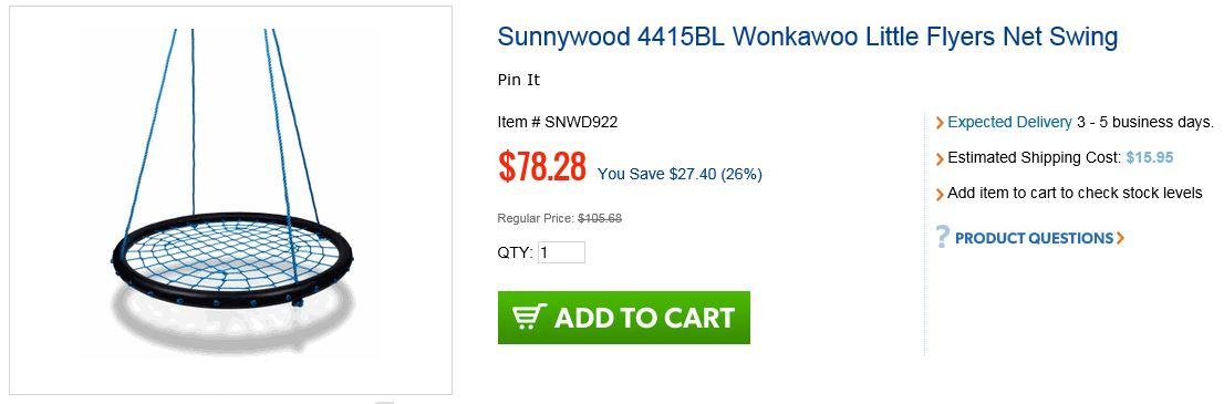 Sunnywood Wonkawoo Net swing - Unbeatablesale