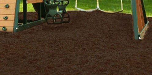 Swing Set Playground Rubber Mulch 75 Cu.Ft. Pallet-Chocolate Brown 2