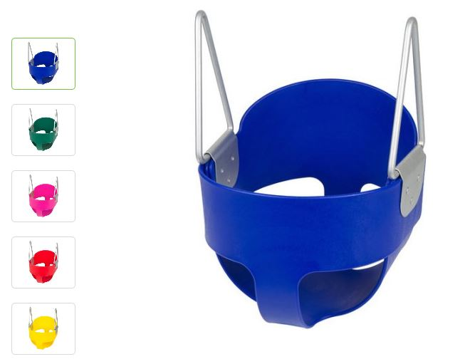 Swing Set Stuff Highback Full Bucket Swing Seat with Chains and Hooks walmart