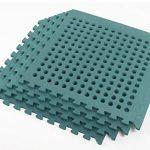 Swing Slide Play Garden Safety Green mats 16sq ft K- Easimat branded mats 2