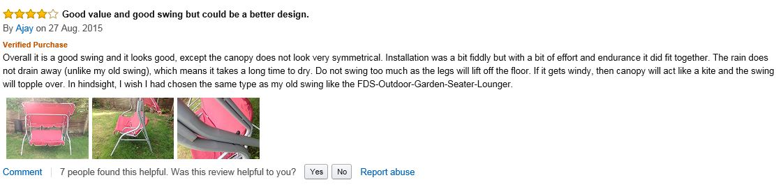 Swing bench garden hammock swing seat swinging seater moderate review