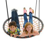 Swinging Monkey products Giant Spider Web Tree Swing 40, Orange
