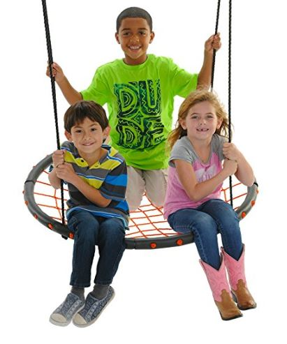 Swinging Monkey products Giant Spider Web Tree Swing 40, Orange 2