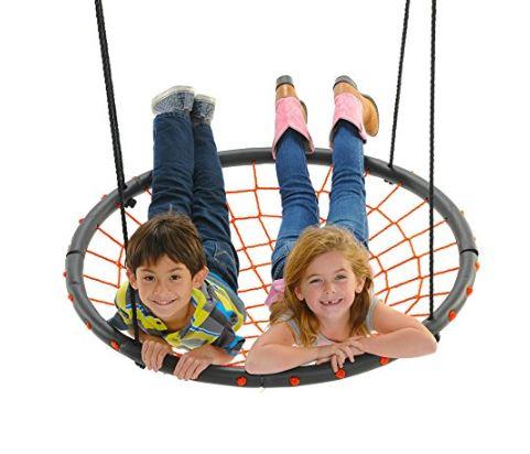 Swinging Monkey products Giant Spider Web Tree Swing 40, Orange