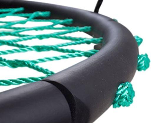 Swinging Monkey products Tarzan Tire 40 Spider Web Swing, Green 3