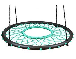 Swinging Monkey products Tarzan Tire 40 Spider Web Swing, Green