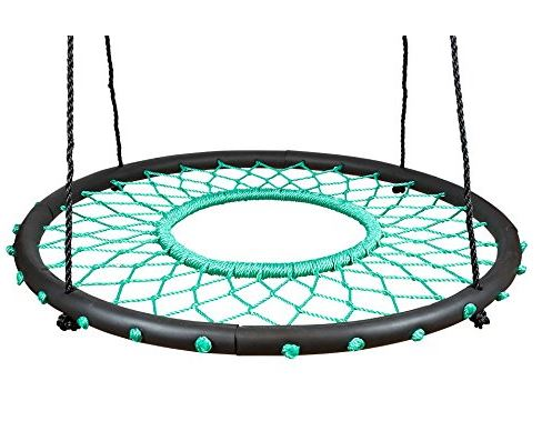 Swinging Monkey products Tarzan Tire 40 Spider Web Swing, Green