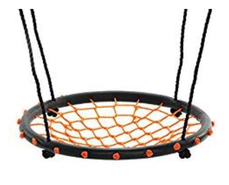 Swinging monkey products 24 Spider Web Playground Orange