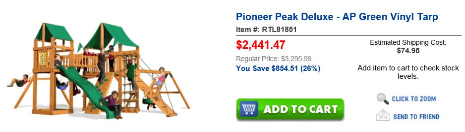 Unbeatablesale Swing set Pioneer peak San Antonio