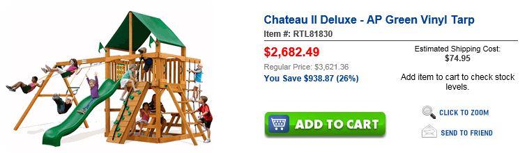 Unbeatablesle swing set Chateau II Deluxe Houston
