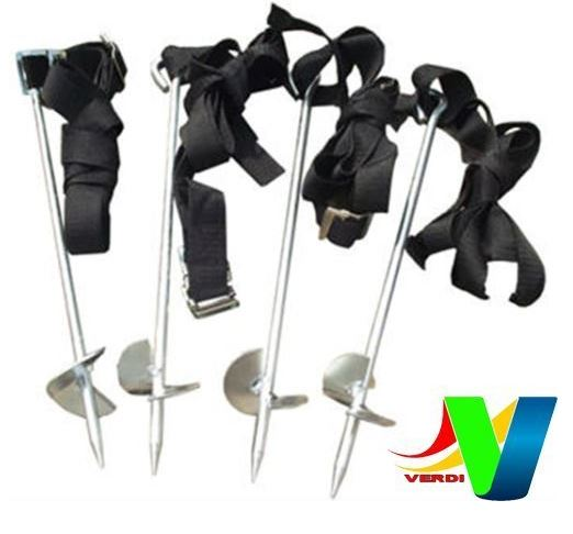 Verdi Ground Anchors Kit for Trampolines, Swings, Garden Sheds, Play Sets
