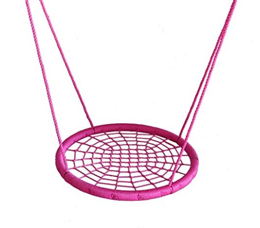 Web Riderz Outdoor Swing N Spin Safety swing Tickled Pink