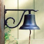 Whitehall Large Black Country Dinner Bell 2 Home & Patio