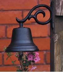 Whitehall Medium Black Country Dinner Bell Home & Patio