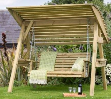 Wooden Garden Swing 2 & 3 Seat Chair Seat Hammock Bench