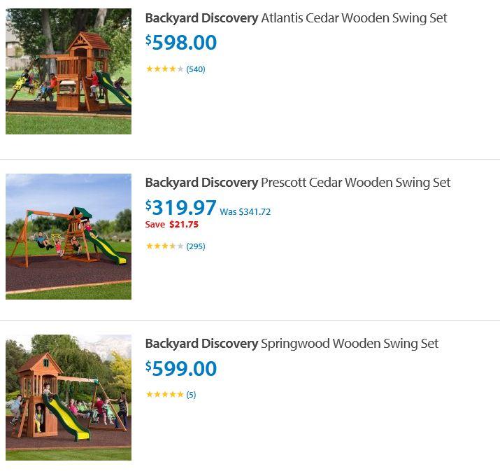 backyard discovery swing sets Walmart San Antonio