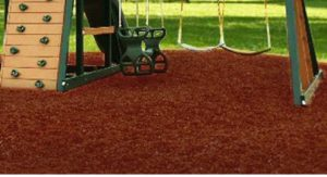 Swing Set Playground Rubber Mulch 75 Cu.Ft. Pallet-Brick Red 2