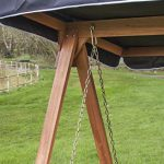 wooden Swing Seat for 2 with Black Canopy 2