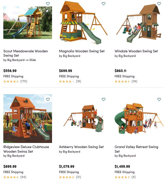 Big Backyard Swing Sets, Wayfair