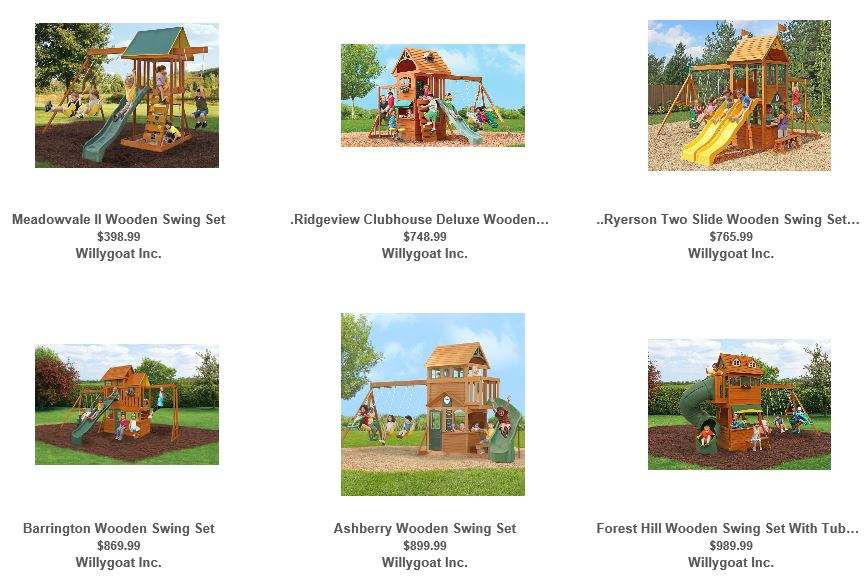 Big Backyard Swing set range from Willygoat