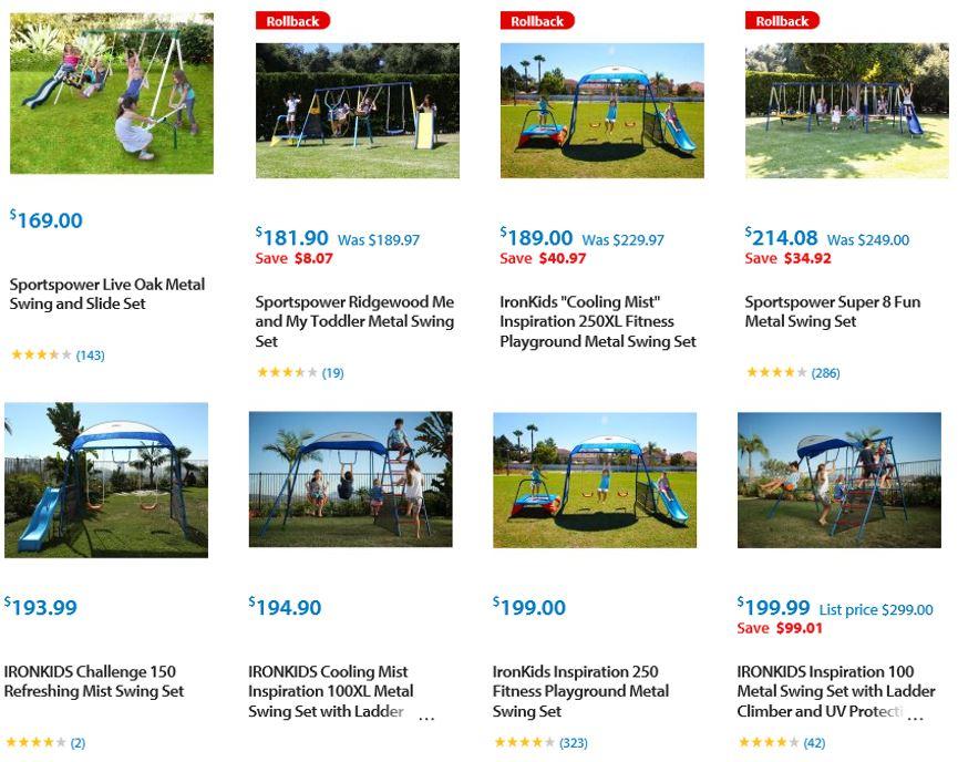 Cheap Swing Sets Walmart