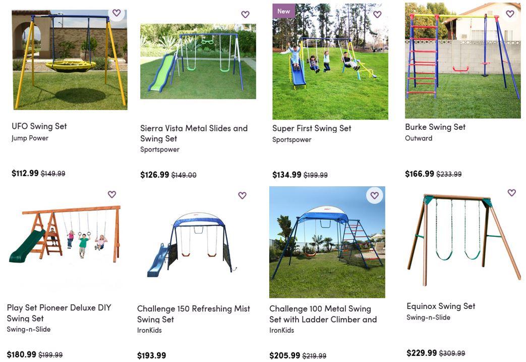 Cheap Swing Sets Wayfair