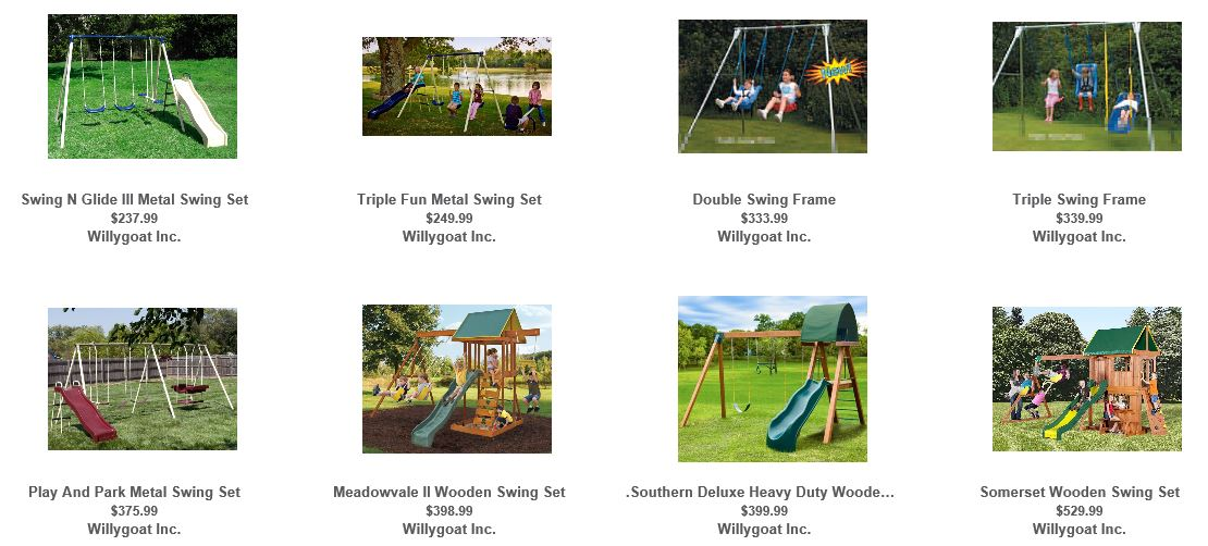Cheap Swing Sets Willygoat