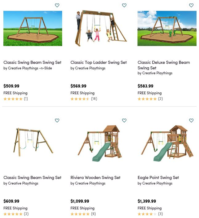 Creative Playthings Swing Sets, Wayfair