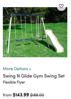 Flexible Flyer Swing set, Wayfair