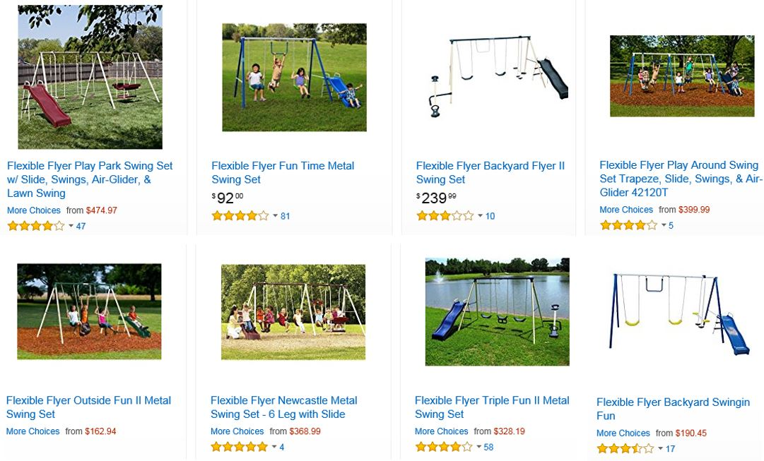 Flexible Flyer Swing Sets, Amazon