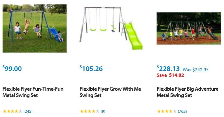 Flexible Flyer Swing Sets Chicago Walmart Swing Set Specialist