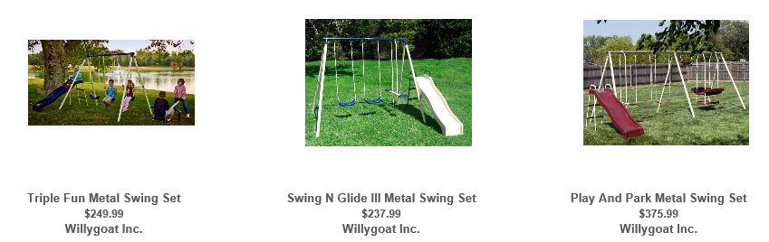 Flexible Flyer Swing sets, Willygoat