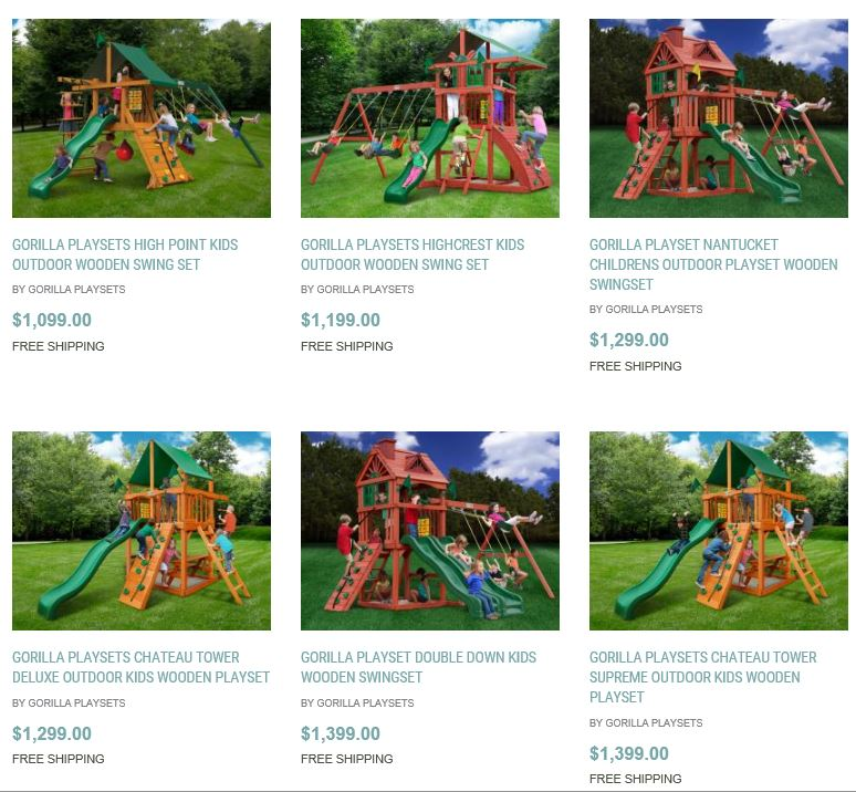 Gorilla Playset Range from Home and Patio Decor Center