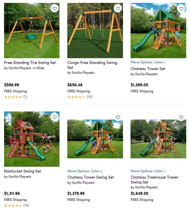 Gorilla Playsets, Wayfair