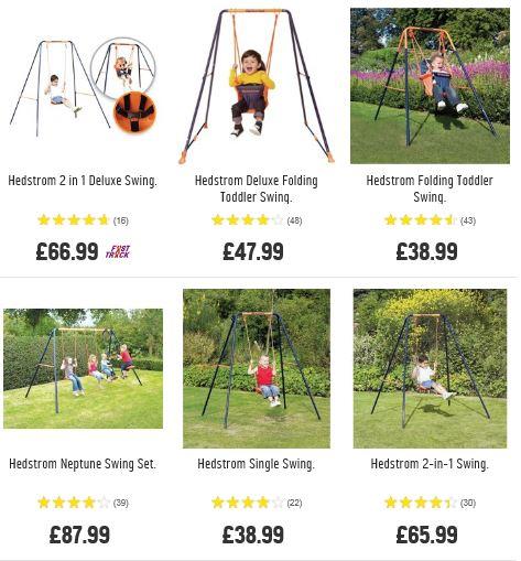 Hedstrom Swing Sets, Argos UK